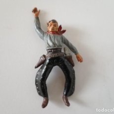 Figuras de Goma y PVC: FIGURA VAQUERO GOMA AÑOS 50 JECSAN. Lote 261861075