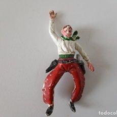 Figuras de Goma y PVC: FIGURA JECSAN VAQUERO GOMA AÑOS 50. Lote 261861555
