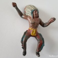 Figuras de Goma y PVC: FIGURA INDIO CAPELL AÑOS 50 GOMA. Lote 261866900