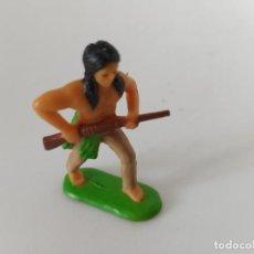 Figuras de Goma y PVC: FIGURA INDIO LITTLE BIG HORN PANINI. Lote 261955095