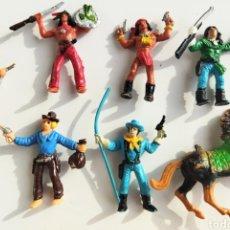 Figuras de Goma y PVC: LOTE 7 ANTIGUAS FIGURAS COMANSI VAQUEROS. Lote 262100765