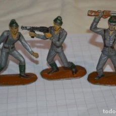 Figuras de Goma y PVC: 3 SOLDADOS JAPONESES / DE COMANSI / NOVOLINEA - PLÁSTICO / PVC - ¡MIRA FOTOS, MUY ANTIGUOS!. Lote 262120915