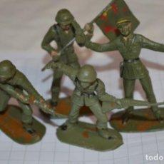 Figuras de Goma y PVC: 4 SOLDADOS ESPAÑOLES / DE COMANSI / NOVOLINEA - PLÁSTICO / PVC - ¡MIRA FOTOS, MUY ANTIGUOS!. Lote 262122405