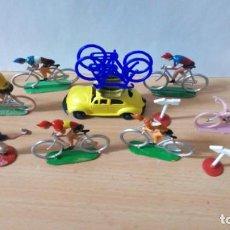 Figuras de Goma y PVC: LOTE 03-GRUPO CICLISTA DE MANEL SOTORRES AÑOS 60. Lote 262125290