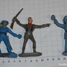 Figuras de Goma y PVC: 3 SOLDADOS AMERICANOS / DE COMANSI / NOVOLINEA - PLÁSTICO / PVC - ¡MIRA FOTOS, MUY ANTIGUOS!. Lote 262125900