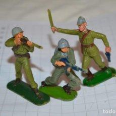 Figuras de Goma y PVC: 2 SOLDADOS AMERICANOS Y UN JAPONES / DE JECSAN - PLÁSTICO / PVC - ¡MIRA FOTOS Y DETALLES!. Lote 262127125