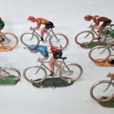 Figuras de Goma y PVC: CICLISTA PLASTICO SOTORRES ESPAÑA AÑOS 60. Lote 262246430