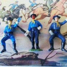Figuras de Goma y PVC: 3 FIGURAS JECSAN SERIE RIN TIN TIN DESCABEZADOS. Lote 262291650