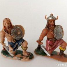 Figuras de Goma y PVC: FIGURAS VIKINGOS PLÁSTICO JECSAN. Lote 262317305