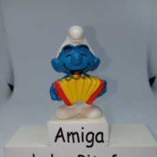 Figuras de Goma y PVC: PITUFO CON ACORDEON -SCHLEICH - PEYO - GERMANY. Lote 262416195