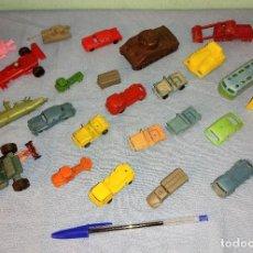 Figuras de Goma y PVC: LOTE VARIADO MONTAPLEX SERJAN ETC SERIE COCHES BARCOS TANQUES AUTOBUSES AÑOS 70. Lote 262424835