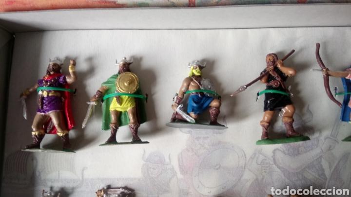 Figuras de Goma y PVC: CAJA COLECCIÓN VIKINGOS DE JECSAN. ENVÍO CERTIFICADO GRATIS (ESPAÑA). - Foto 3 - 262532390