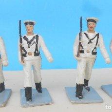 Figuras de Goma y PVC: SOLDADOS EN DESFILE. INFANTERÍA DE MARINA PECH, REAMSA LAFREDO, COMANSI, GOMARSA. Lote 262563220