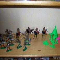 Figuras de Goma y PVC: 16 FIGURAS INDIOS DE COMANSI Y 3 TIPIS.. Lote 262643095