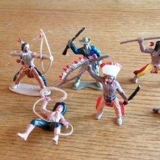 Figuras de Goma y PVC: LOTE DE VAQUEROS (COMANSI, JECSAN, REIGON, SOTORRES, LAFREDO ETC.). Lote 262796175