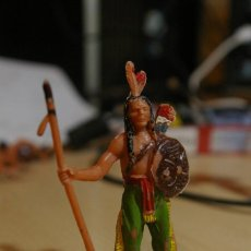 Figuras de Goma y PVC: FIGURA PLASTICO INDIO JECSAN RARA. Lote 262813685