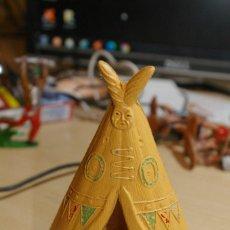 Figuras de Goma y PVC: TIENDA INDIA TIPI ( PEQUEÑO DEFECTO ) 12,5 CMS DE ALTO JECSAN. Lote 262818575