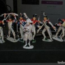 Figuras de Goma y PVC: JECSAN SOLDADOS NAPOLEONICOS 7 FIGURAS COMO SE VEN. Lote 262821890