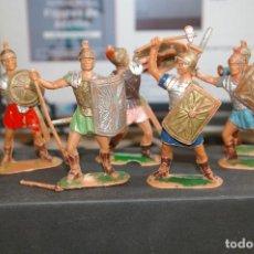 Figuras de Goma y PVC: FIGURAS ROMANOS DE JECSAN 6 FIGURAS COMO SE VEN. Lote 262836380