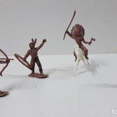 Figuras de Goma y PVC: GUERREROS INDIOS . REALIZADOS EN JECSAN . SERIE MEDIANA - ALTURA 5 / 6 CM. Lote 262880565