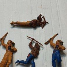 Figuras de Goma y PVC: FIGURAS GOMA ARTICULADAS GAMA SERIE OESTE INDIOS Y VAQUEROS. Lote 262973550