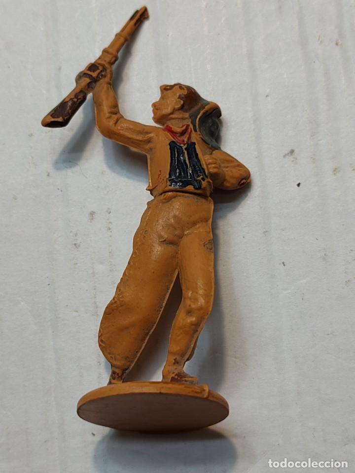 Figuras de Goma y PVC: Figuras Goma articuladas Gama serie Oeste Indios y Vaqueros - Foto 2 - 262973550