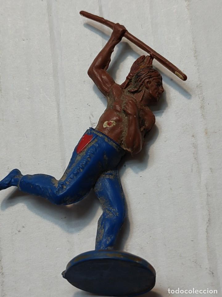 Figuras de Goma y PVC: Figuras Goma articuladas Gama serie Oeste Indios y Vaqueros - Foto 3 - 262973550