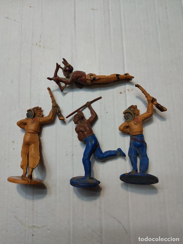 Figuras de Goma y PVC: Figuras Goma articuladas Gama serie Oeste Indios y Vaqueros - Foto 6 - 262973550