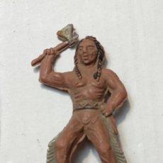 Figuras de Goma y PVC: FIGURA LAFREDO EN GOMA SERIE PEQUEÑA INDIO CON HACHA. Lote 262985330