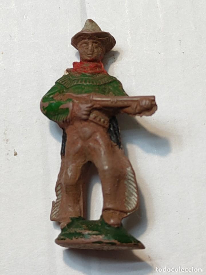 FIGURA EN GOMA LAFREDO SERIE PEQUEÑA VAQUERO CON RIFLE (Juguetes - Figuras de Goma y Pvc - Lafredo)