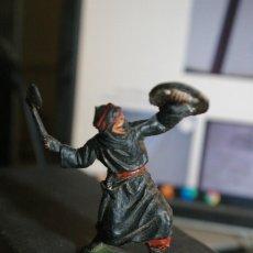 Figuras de Goma y PVC: SARRACENO MORO BEN YUSUF GUARDIA NEGRA MUY RARO EN PLASTICO NEGRO. Lote 262987530