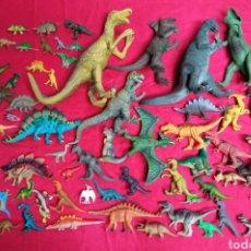 Figuras de Goma y PVC: LOTE 67 DINOSAURIOS PLÁSTICO DIFERENTES MEDIDAS. Lote 262995615