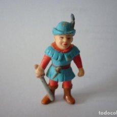 Figuras de Goma y PVC: FIGURA GUERRERO MEDIEVAL COLECCIÓN ROBIN HOOD - SOMA. Lote 262997615
