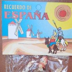 Figuras de Goma y PVC: LOTE DOS FIGURAS PVC DON QUIJOTE CON ESPADA Y SANCHO PANZA. DELGADO Y ROMAGOSA. EURA SPAIN 1979. Lote 263038885