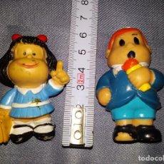 Figuras de Goma y PVC: ANTIGUAS FIGURA MAFALDA Y TOBY TAPIA (SIN MARCA FABRICANTE, NI AÑO). Lote 263054005
