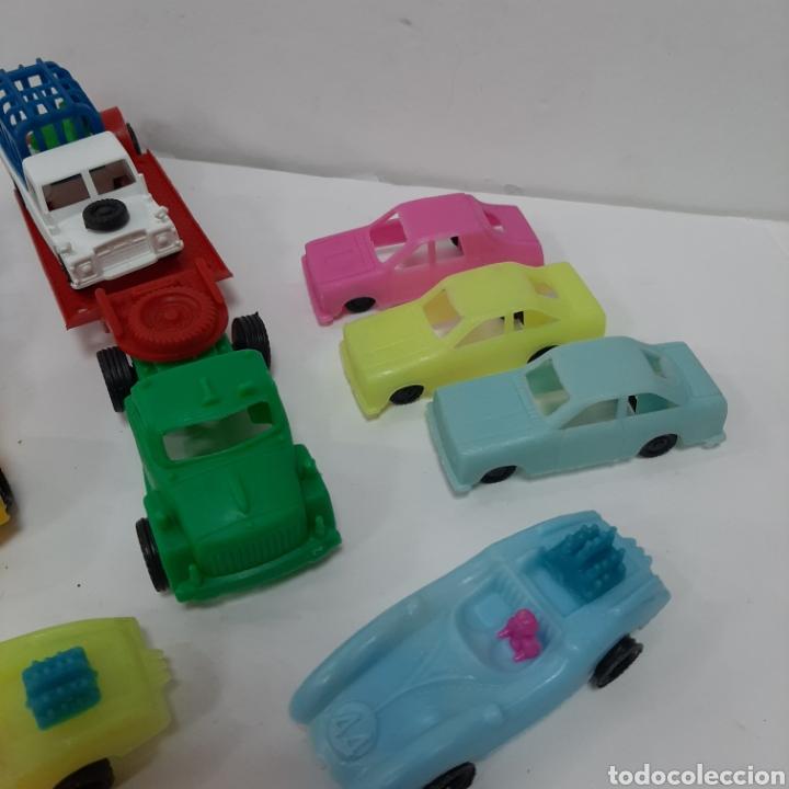 Figuras de Goma y PVC: Bonito lote kiosko pipero camiones con land rover marcados abajo y coches diversos - Foto 5 - 263054615