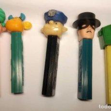 Figuras de Borracha e PVC: ANTIGUOS DISPENSADORES CARAMELOS PEZ VARIOS MADE IN SPAIN AÑOS 70. Lote 263082945