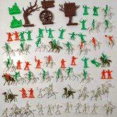 Figuras de Goma y PVC: GRAN SURTIDO INDIOS Y VAQUERO MINIOESTE COMANSI . AÑOS 70/80. Lote 263083910