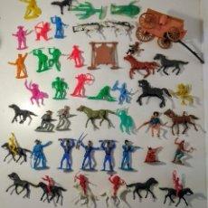Figuras de Goma y PVC: GRAN SURTIDO INDIOS Y VAQUERO AÑOS 70/ 80 COMANSI Y OTROS NO IDENTIFICADOS. Lote 263084685