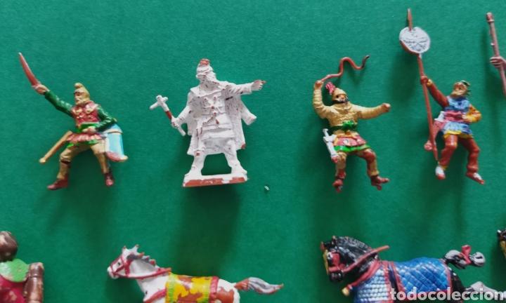 Figuras de Goma y PVC: Lote de 12 pequeñas figuritas antiguas varias marcas , Exin, Comansi.. - Foto 6 - 263149185