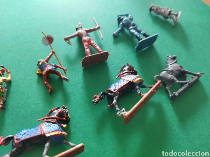 Figuras de Goma y PVC: Lote de 12 pequeñas figuritas antiguas varias marcas , Exin, Comansi.. - Foto 10 - 263149185