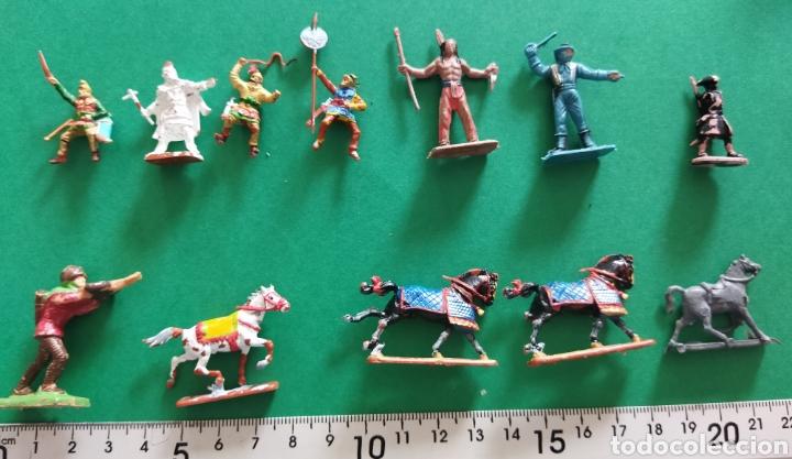 Figuras de Goma y PVC: Lote de 12 pequeñas figuritas antiguas varias marcas , Exin, Comansi.. - Foto 12 - 263149185
