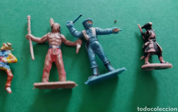 Figuras de Goma y PVC: Lote de 12 pequeñas figuritas antiguas varias marcas , Exin, Comansi.. - Foto 13 - 263149185