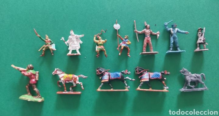 LOTE DE 12 PEQUEÑAS FIGURITAS ANTIGUAS VARIAS MARCAS , EXIN, COMANSI.. (Juguetes - Figuras de Goma y Pvc - Reamsa y Gomarsa)