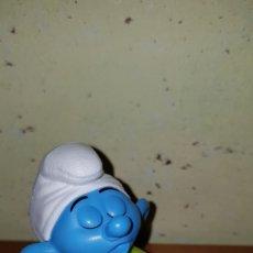 Figuras de Goma y PVC: FIGURA PITUFO DORMILÓN PITUFOS SMURFS PEYO MUÑECO COLECCIÓN DIBUJOS ANIMADOS MCDONALD'S MCDONALD. Lote 263167150