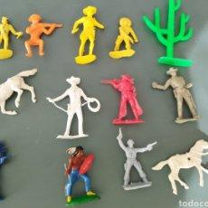 Figuras de Goma y PVC: LOTE DE 13 FIGURITAS DEL OESTE.DIFERENTES MARCAS. Lote 263180005