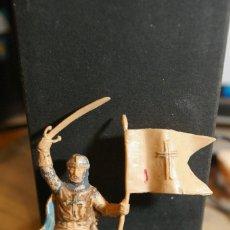 Figuras de Goma y PVC: CRUZADO CRISTIANO JINETE MEDIEVAL CID CAMPEADOR ABANDERADO REAMSA COMO SE VE. Lote 263184385
