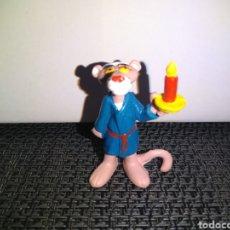 Figuras de Goma y PVC: FIGURA PVC PANTERA ROSA DE BULLY PINK PANTHER CON VELA Y CAMISON. Lote 263296410