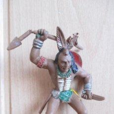 Figuras de Goma y PVC: FIGURA ANTIGUA LAFREDO SERIE GRANDE, INDIO ( PECH , JECSAN , REAMSA , COMANSI , LAFREDO , ETC). Lote 263564735