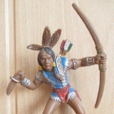 Figuras de Borracha e PVC: FIGURA ANTIGUA LAFREDO SERIE GRANDE, MUY DIFICIL FIGURA INDIO ( PECH, JECSAN , REAMSA , COMANSI ). Lote 263566795